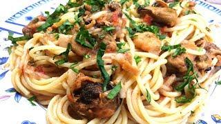 ????Паста с морепродуктами легко и просто |  #Спагетти с морепродуктами