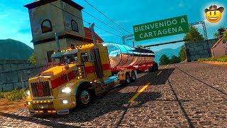 KENWORTH T800 CON CISTERNA DE COMBUSTIBLE RUMBO A CARTAGENA!!! |  EURO TRUCK SIMULATOR 2