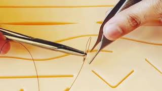 How to do simple interrupted sutures