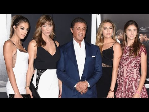 Thumbnail: Sylvester Stallone Steps Out With Stunning Daughters at the 'Creed' Premiere