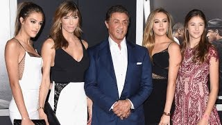 Sylvester Stallone Steps Out With Stunning Daughters at the