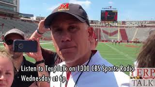 Maryland Football DJ Durkin after spring game 2018