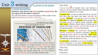 Traveller 5 Unit3 writing A LETTER TO THE EDITOR + Workbook A,B