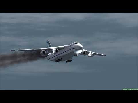 ANTONOV An-124 Emergency Landing in Dubai