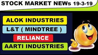 (Alok industries) (Reliance) (Aarti industries) (L&T) todays news and updates in Hindi by SMkC