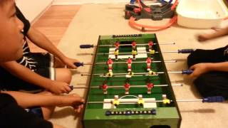JohnnyDoezs table soccer with friends part 3