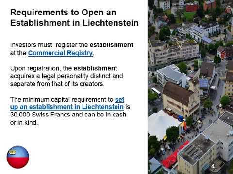 Set Up an Establishment (Anstalt) in Liechtenstein