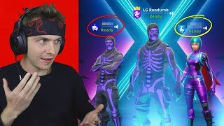 2 og skull troopers help the worst player on fortnite EVER get a win... (so bad)