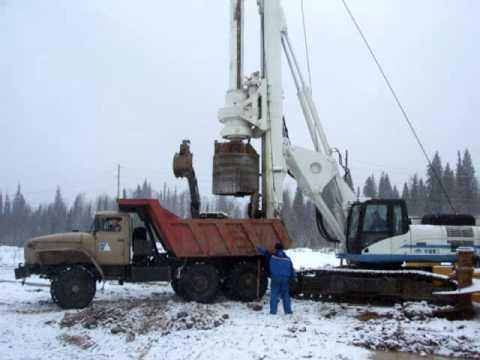Добыча алмазов при помощи буровой установки типа Bauer, Soilmec, Yutong