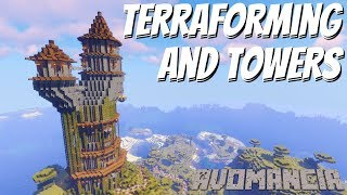 Minecraft Terraforming: How to Make a Wizards Tower in Minecraft & The Pathways to it (Avomancia 95)