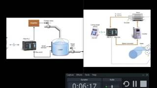 level setting avec plc et moteur et valve et variateur de vitesse