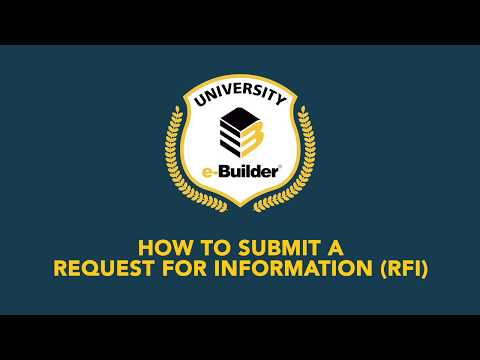 Training Videos On-Demand: How to Submit a Request for Information (RFI)