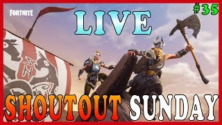 "NEW ""MAGNUS"" SKIN in FORTNITE - Live Shoutout Sunday #35 // NEW ""HULA"" EMOTE // 234 SOLO WINS"