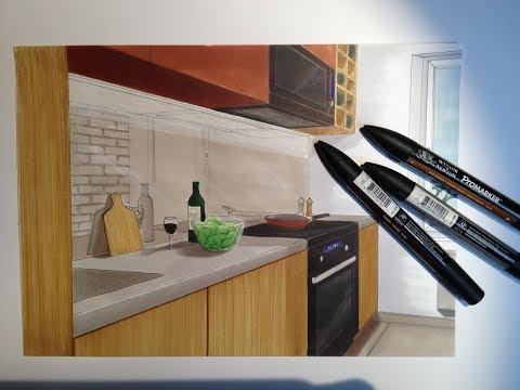 Hand rendering #1 Kitchen