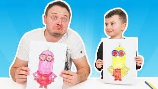 3 MARKER Challenge | Taticu cu Alex 4 Desene