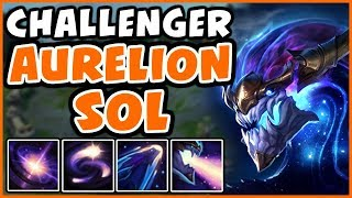 CHALLENGER SHOWS HOW TO PLAY AURELION SOL - Full Game Commentary - League of Legends