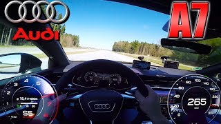 Audi A7 55 TFSI pushing on German Autobahn ✔