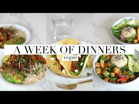 A Week of Dinners/What I Ate (+ Meal Prep!) Vegan | AD JessBeautician