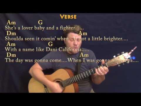Dani California (RHCP) Guitar Cover Lesson with Chords/Lyrics - Munson