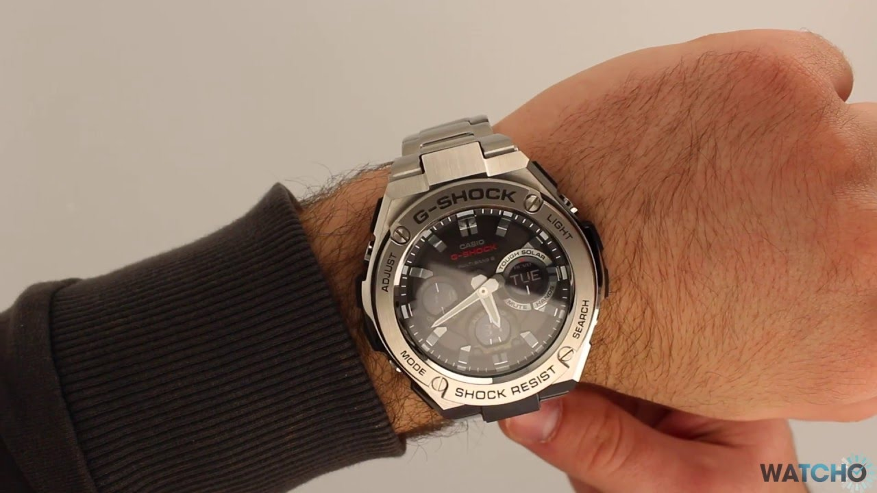 89d7e4da4f8a WatchO.co.uk - G-Shock Radio Controlled Solar Powered Watch GST-W110D-1AER