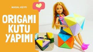 Origami Kutu Yapımı (Kağıttan) - Evde Çocuk Etkinlikleri - Kendin Yap - Barbie Türkçe İzle