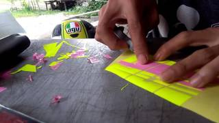 Cara membuat stiker manual (Nomor star/balap)