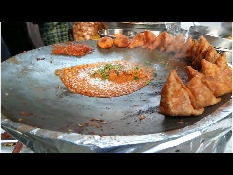 Samosa Chat | Delhi Chat Bandar | Danavaipeta | Rajahmundry | Chat Bandi | Popular Chat Bandi