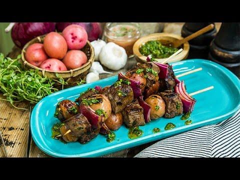 Recipe  Trevor Donovan's Steak and Potato Skewers  Hallmark Channel