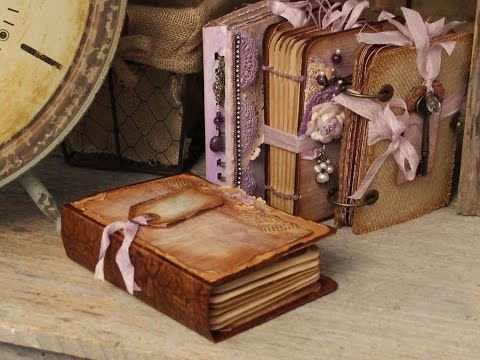 """Southern Charm"" Recycled Box Covers using Stack the Deck Binding Printable Mini Book"