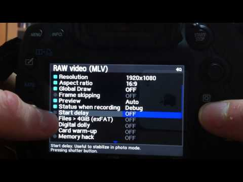 Tutorial - Magic Lantern RAW e MLV su 5D mark III