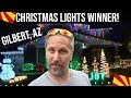 Gilbert, Arizona Great Christmas Light Fight Winner | Holiday Lights Neighborhood Tour, AZ