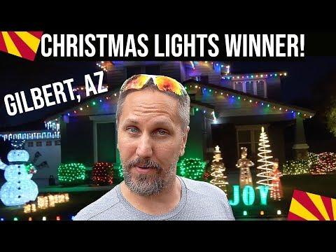Gilbert, Arizona Great Christmas Light Fight Winner