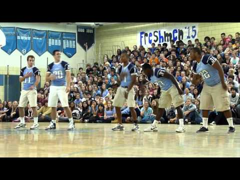 Yorktown High School - Pep Rally 2011 (Football Team Dance)