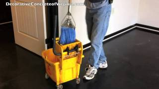 How to Wax Stained Concrete, Epoxy or Any Type of Sealed Concrete