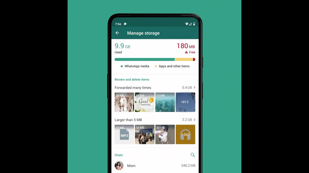 New storage management tool on WhatsApp