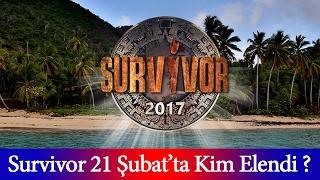 21 şubat 2017 Survivor  Kim Elendi 21 şubat Survivor 2017 SMS Oylaması Sonuçları