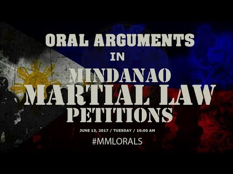 Oral Arguments on Mindanao Martial Law Petitions