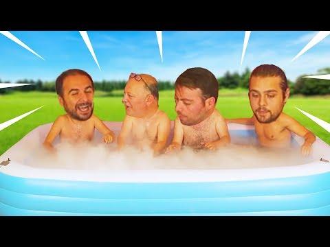 Buz Dolu Havuzda En Uzun Süre Kim Dayanacak?