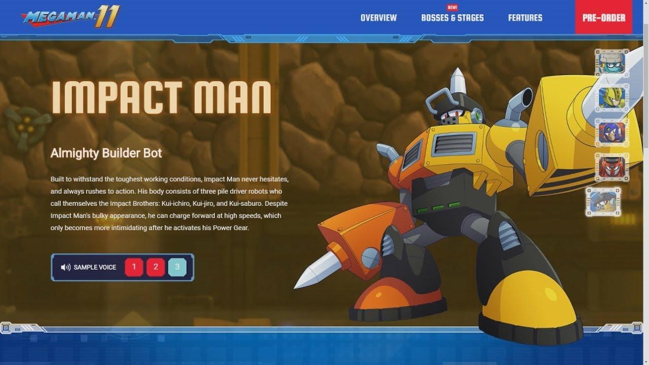Mega Man 11 - ImpactMan's Japanese Name is Different + MORE Website Updates  & Footage!