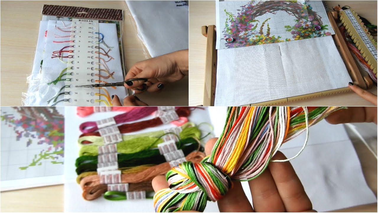 Организация процесса вышивки