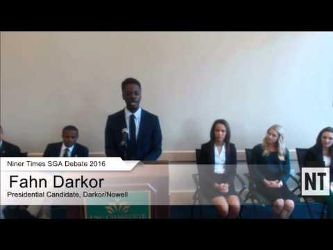 2016 SGA Presidential Candidate Debate