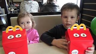 Дом игрушки Хеппи Мил МакДональдс Home toys Unboxing Happy Meal McDonalds