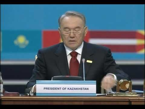 Kazakhstan's Nazarbayev addresses OSCE Summit