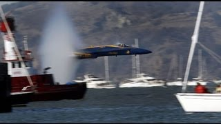 blue angels flying low over boat in san francisco bay 2012 live bait fishing