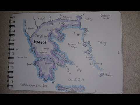 ASMR - Map Of Greece - Australian Accent - Chewing Gum & Describing In A Quiet Whisper
