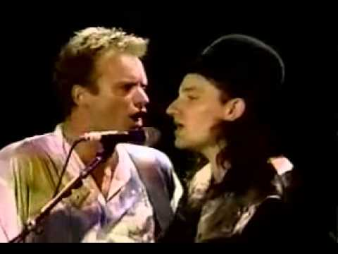 The Police with Bono 1986-06-15 Conspiracy of Hope, Giants Stadium New Jersey - Invisible Sun