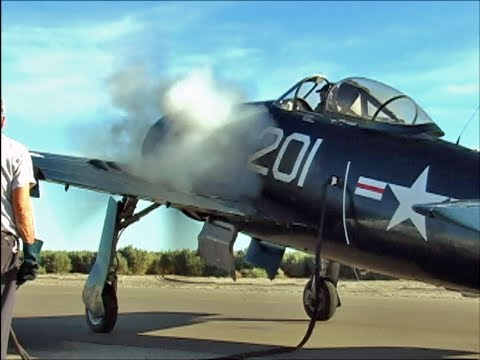 Grumman F8F Bearcat Flight Demonstration - MONSTER Pratt & Whitney Radial Engine Sound !