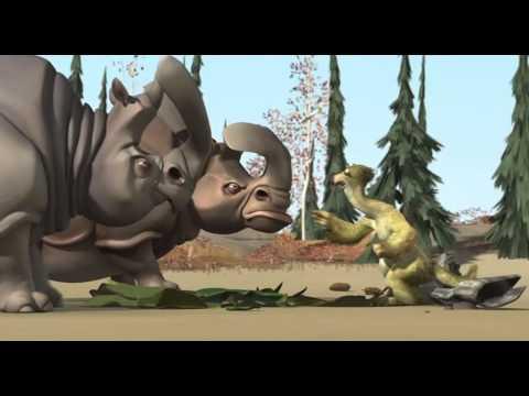 Ice Age 1 Sid and Rhino with Mammoth