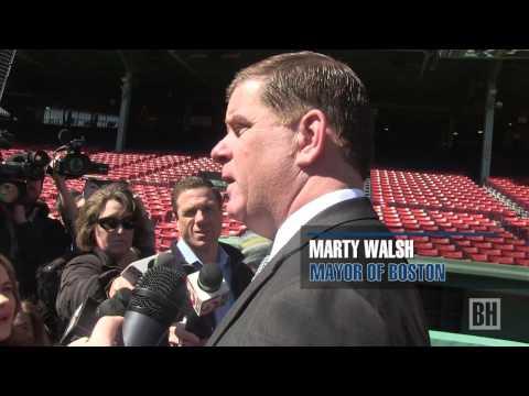 Mayor Marty Walsh tours Fenway Park