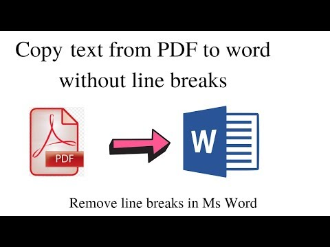 Copy Text From PDF To Microsoft Word Without Line Breaks  | Word Tricks| How To Fix Line Breaks|